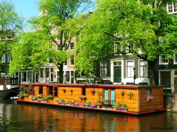Boathouses in Amsterdam